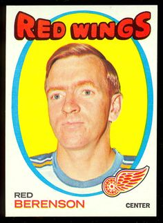 1971 72 TOPPS HOCKEY #91 RED BERENSON NM DETROIT RED WINGS FREE SHIP TO USA #DetroitRedWings