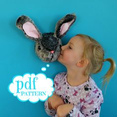 Easter Bunny sewing pattern. Bob the Bunny. Rabbit trophy