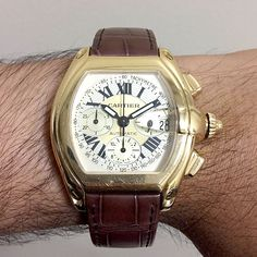 Cartier Roadster Yellow Gold Chronograph