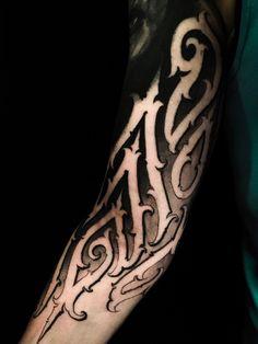 Badass Tattoos, Body Art Tattoos, Tribal Tattoos, Sleeve Tattoos, Tattoo Lettering Fonts, Just Ink, Tattoo Photography, Dark Tattoo, Tattoo Set
