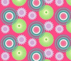 Spiral Bright pattern by The Pink Home