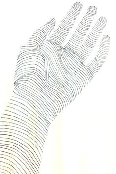 Foundations of Form & Space-Cross Contour Drawing of a Hand-By Sara Edge