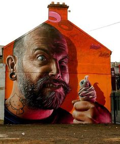 Smug is an Australian born artist based in Glasgow, Scotland who created the realistic street art with an original hint of humor.