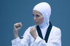 Muslim female – Tae Kwon Do – Hijab Club Turban, Sports Hijab, Islam Women, Hair Cover, Fashion Cover, Beautiful Hijab, Taekwondo, Judo, Female Athletes