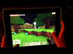 Collect materials to build your first house in Minecraft Pocket Edition for iPad
