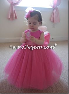 Infant tulle flower girl dress