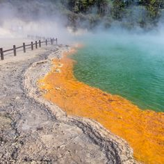 Following the hot orange sulphur trail .. #waiotapu #geothermal #kiwiexperience #newzealand #kiwisummer #travel #traveltheworld #travelwithme #visitnz #travelnz #nztravel #travelnewzealand #travelnzwithme #nznorthisland #northisland #newzealandtrip #travelplanner #itineraryplanner #travelitineraryplanner #travaa Itinerary Planner, Travel Planner, New Zealand Travel, Trip Planning, Wonders Of The World, Trail, Country Roads, River, Orange