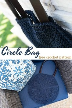 I Don't Often Shop For Myself. At the point when I Do, However, I Am Always Drawn To The Circle Bags. This New Circle Bag Pattern Is Fun, Free, And Certainly Useful Crochet Beach Bags, Bag Crochet, Crochet Clutch, Crochet Handbags, Crochet Purses, Free Crochet, Crochet Baskets, Bag Pattern Free, Tote Pattern