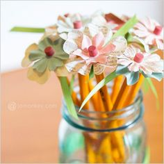 Collection of Back to school crafts with pencils, crayons and more!