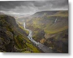 This photograph was captured in Iceland at a location called Haifoss. The Canyon seemed to go on forever. Photography For Sale, Amazing Photography, Nature Photography, Mountain Photography, Travel Photography, Art Prints For Sale, Fine Art Prints, Art Sites