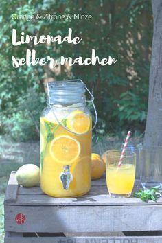 Make lemonade yourself: fruity fresh! - Make lemonade yourself: fruity fresh with orange & lemon Make lemonade yourself: fruity fresh with - Lemonade Punch Recipe, Strawberry Lemonade Punch, Pineapple Lemonade, Whiskey Drinks, Oranges And Lemons, Ginger Beer, Refreshing Drinks, Smoothie Recipes, Smoothies