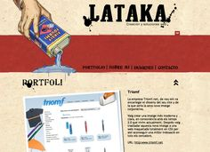 Vintage 50's web site design: www.lataka.com