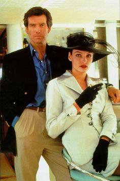 Pierce Brosnan as James Bond and Famke Janssen as Xenia Onatopp 'Goldeneye' (1995)