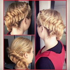 Braid blonde hair