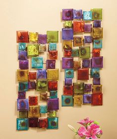 """30"""" Metal Squares Wall Sculpture