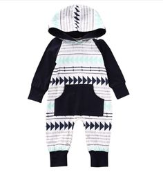 Arrow Jumper Baby Boy Romper / Coming Home Outfit / Baby Shower Gift / Newborn Baby Boy / Baby Boy Clothes / Baby Present / Modern Baby / Jumper / Black & White Baby / Trendy Baby https://presentbaby.com