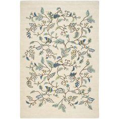 Martha Stewart Autumn Woods Colonial Blue Wool/ Viscose Rug (9'6 x 13'6) | Overstock.com