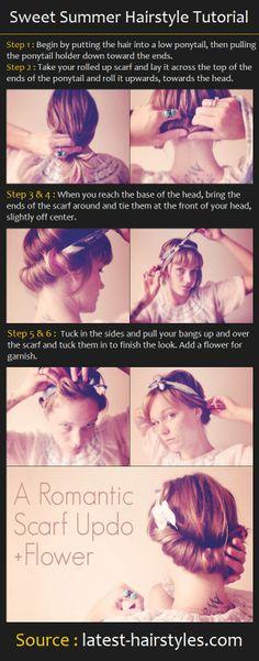 Sweet Summer Hairstyle Tutorial   Pinterest Tutorials