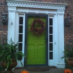 My newly painted front door