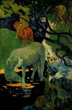 Paul Gauguin, il cavallo bianco
