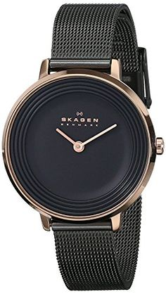 Skagen Women's SKW2277 Ditte Rose-Tone Stainless Steel Watch with Black Mesh Bracelet Skagen http://www.amazon.com/dp/B00LNHRAYI/ref=cm_sw_r_pi_dp_17Javb0HB0E0A