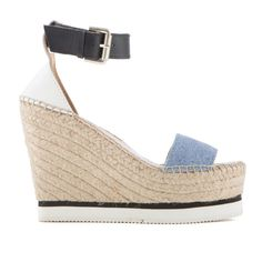 Glyn Wedge Espadrille (745 BRL) ❤ liked on Polyvore featuring shoes, sandals, summer wedge shoes, summer sandals, wedge heel sandals, wedge sandals and wedges shoes