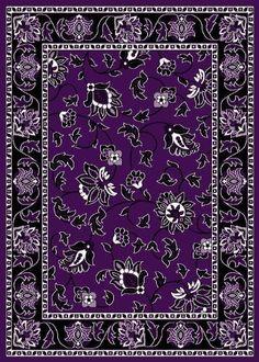 T1005 Purple Black White 7u002710 X 10u00272 Floral Oriental Area Rug Carpet