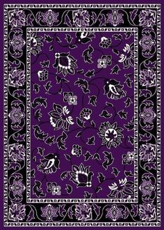 garland rug flowers area rug, 5-feet by 7-feet, purple garland rug