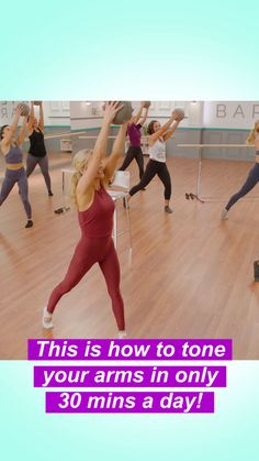 sleeveless in 30 days with this fun at-home workout! Get confident and go sleeveless with these 30 minute at-home barre workouts by Andrea Leigh RogersGet confident and go sleeveless with these 30 minute at-home barre workouts by Andrea Leigh Rogers At Home Workouts, Barre Workouts, Yoga, Physical Fitness, Get In Shape, Excercise, Workout Videos, Along The Way, Fitness Tips