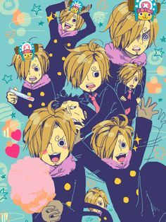 Chopper!Sanji. The cutest thing I've ever seen in the anime/manga (besides Chopper himself).