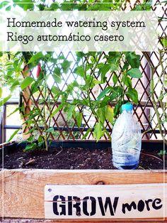 Recycle plastic bottles and take care of your plants!! Recicla botellas de plástico y cuida de tus plantas!!