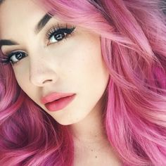 ellekae, pink hair, pravana vivids wild orchid x pravana pastels pretty in pink, mermaid hair, pastel hair