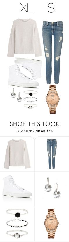 """Untitled #60"" by mishaxrose ❤ liked on Polyvore featuring Helmut Lang, Frame Denim, Common Projects, Accessorize and GUESS"