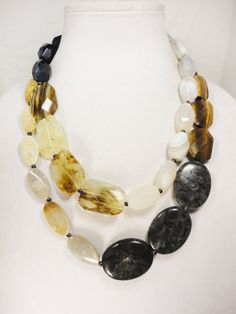 Double Strand Gemstone Necklace by TheBillyBeads on Etsy, $100.00
