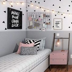 51 free inspiring small teen bedroom ideas you will love 34 Wonderful Teen Bedrooms Bedroom Free ideas Inspiring love Small Teen Cute Bedroom Ideas, Cute Room Decor, Girl Bedroom Designs, Teen Room Decor, Room Ideas Bedroom, Small Room Bedroom, Bedroom Decor, Girls Bedroom, Tumblr Bedroom