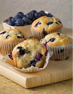 Alton Brown's Blueberry Muffins