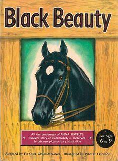 VINTAGE KIDS BOOK Black Beauty by HazelCatkins on Etsy, $15.00
