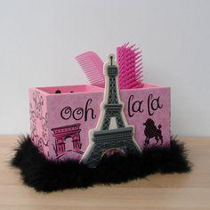pink+and+black+paris+eiffel+tower++desk+por+FUNctionalArt4Kids,+$15,95