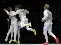Italy - led by world champion Andrea Cassara - fenced their way to team foil gold in the last event at the London 2012 Games.