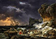 Claude-Joseph Vernet (1714-1789), Tempête en Mer avec épaves de Navires - 1770