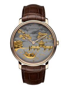 Blancpain montre Damasquinée http://www.vogue.fr/joaillerie/shopping/diaporama/l-invitation-au-voyage-montres-metiers-d-arts-japonisants/16840/image/894066#!blancpain-montre-damasquinee