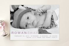 Baby Sophisticate Birth Announcement Postcards