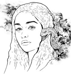 Game of Thrones Colouring in Page Tagaryen