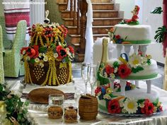 Korovay Ceremonial Bread and Wedding Cake in Ukrainian Style, Ternopil
