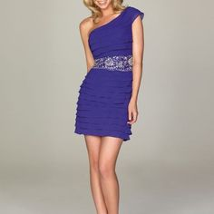 M49 one shoulder empire beading shortmini homecoming dresses, short chiffon homecoming dress