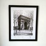 #parede #deco #paris #moldura #frame #quadros #framed #molduras #design #poster #print #arte #souvenir #artframe #cidomolduras