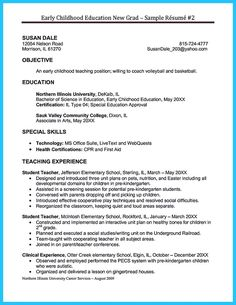 Early Childhood Education Teacher Resume Sample Resume Samples