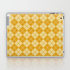 ARGYLE-GOLD Laptop & iPad Skin by The Griffin Passant - $25.00
