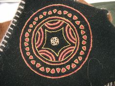 Norse coat embroidery detail by Grafina Asa