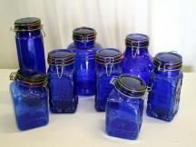 Cobalt Glass Canning Jars